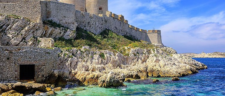 The Chateau d'If off the coast of Marseille, France