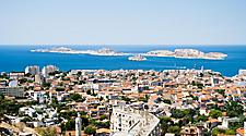 Panoramic view of Marseille, France