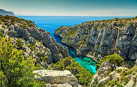 The Calanques D'En Vay bay in France