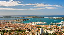 The Toulon, France cityscape