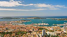 The Toulon, France cityscape