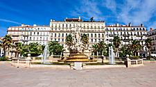Liberty Square in Toulon, France,
