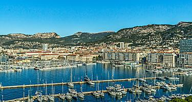 The Toulon harbor in France