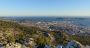 Panoramic view of Toulon, France