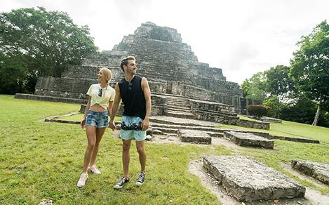 Costa Maya Ancient Ruins Couple Holding Hands