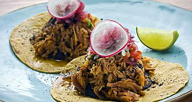 Traditional Mexican dish, Cochinita Pibil.