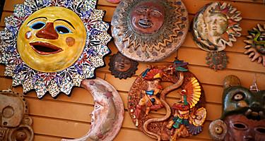 Giftshop merchandise located in Costa Maya, Mexico.