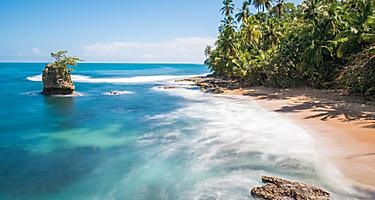 Wild Caribbean beach of Manzanillo near Puerto Limon, Costa Rica