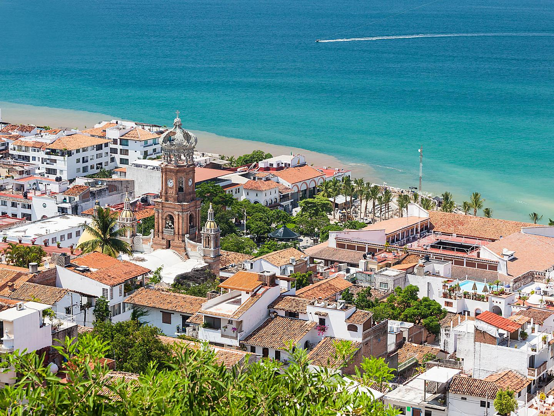 Puerto Vallarta, Mexico Downtown Panoramic View