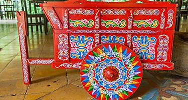 Traditional decorated ox cart in Puntarenas, Costa Rica