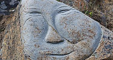 A face carved in stone