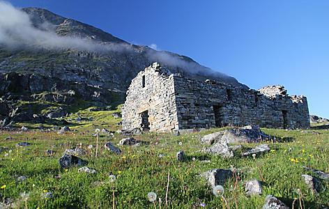 The ruins of a Norse building in Greenland