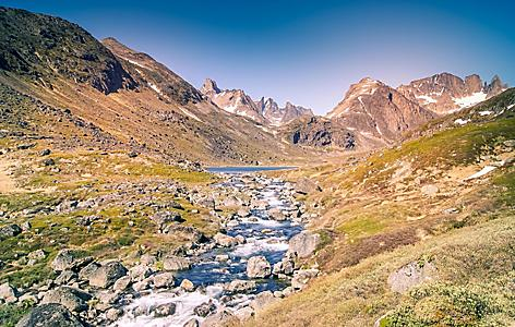 A small river in rural Greenland