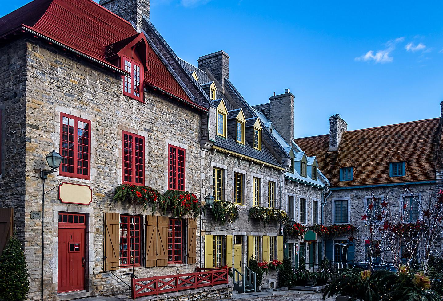 Red Traditional Homes in Quebec