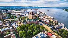 Aerial view of the old port in Quebec City, Quebec