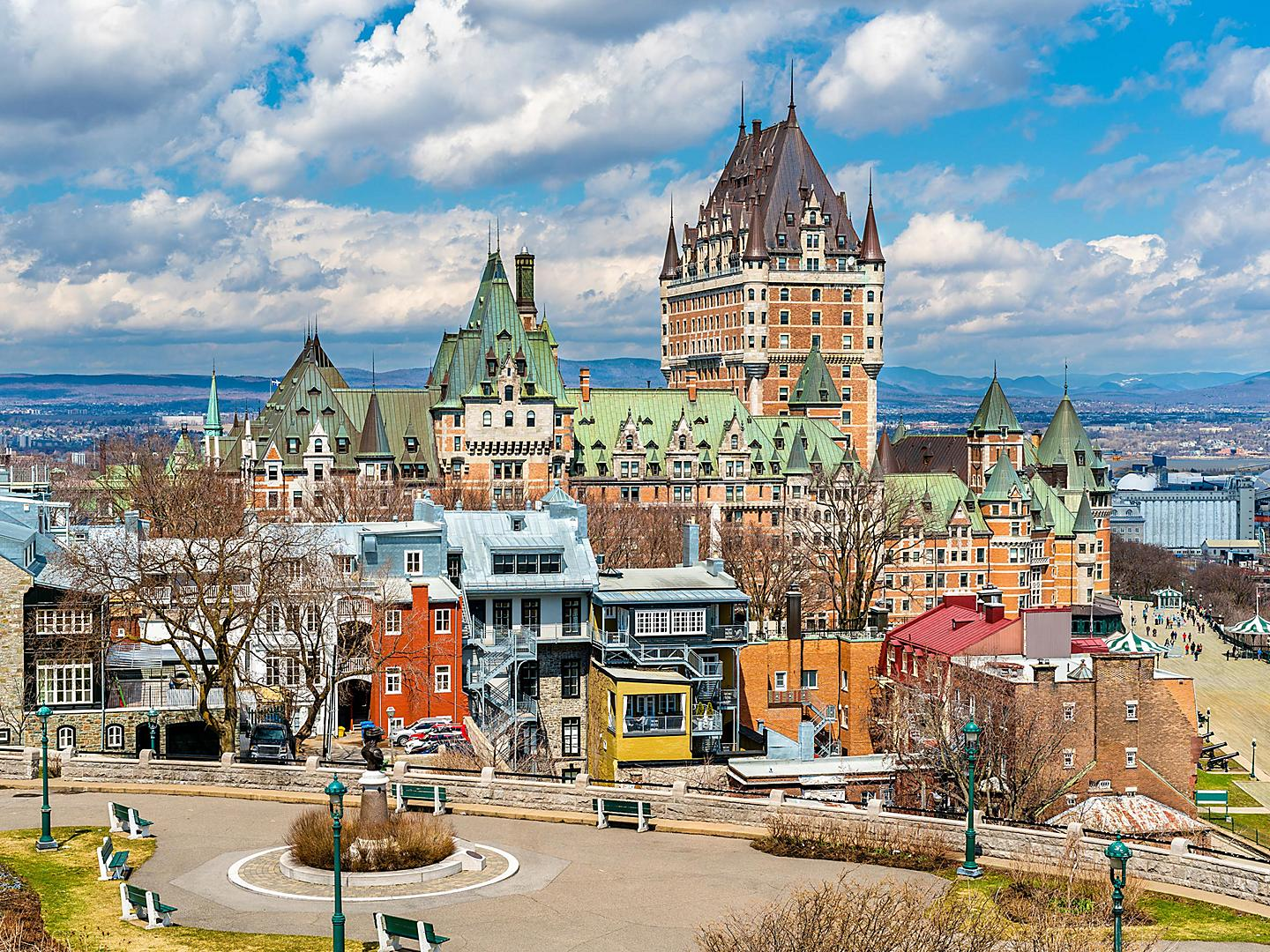 Quebec City, Quebec, City And Chateau Frontenac