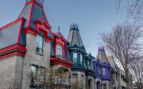 Quebec City Small Town Historical Homes