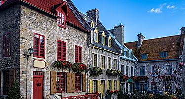 Various buildings within Riyak Square in Quebec City, Quebec
