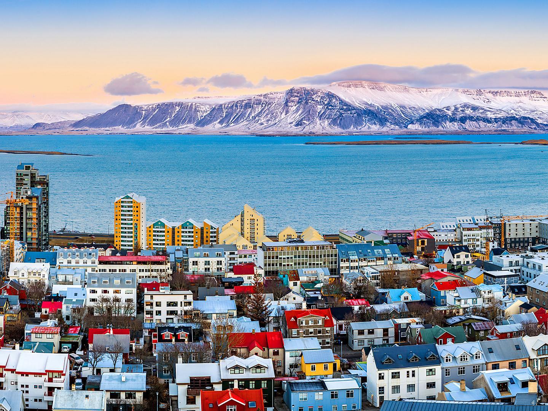 Reykjavik, Iceland, Aerial City View