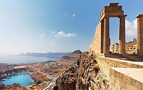 Ancient ruins in Rhodes, Greece
