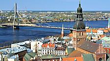 An aerial view of Riga, Latvia