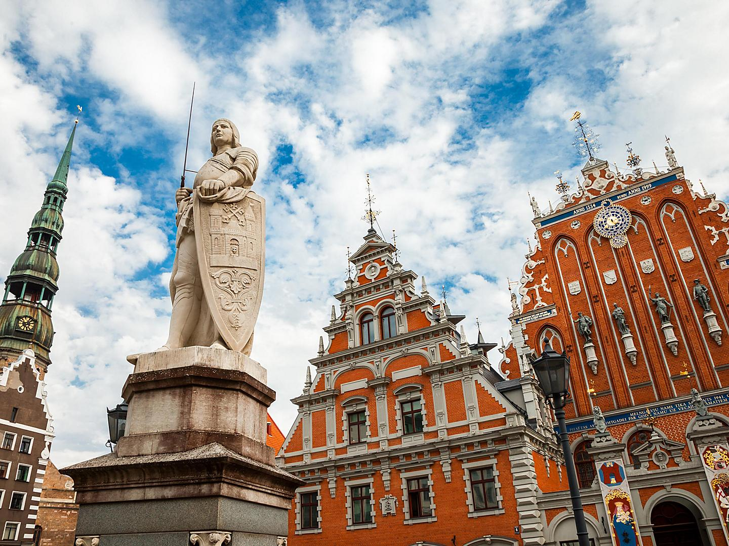 Riga, Latvia, House of Blackheads Statue