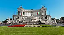 The Altare della Patria in Rome, Italy