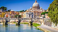 The Vatican dome in Italy