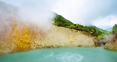 The Boiling Lake, a world heritage site in the Morne Trois Pitons National Park, Roseau, Dominica