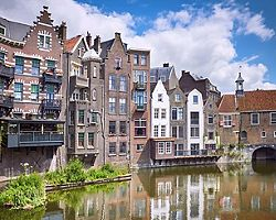 The waterfront Delfshaven historic center