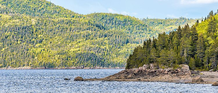 The Saguenay Fjord in Quebec, Canada