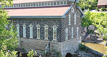 La Pulperie de Chicoutimi Regional Museum, located in an old mill surrounded by a large park, in Saguenay, Quebec