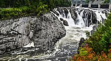 A waterfall in New Brunswick,