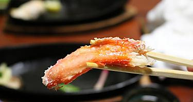 Crab seafood in Sakaiminato, Japan