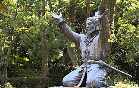 Statue of Okuninushi in Izumo Taisha grand shrine in Sakaiminato, Japan