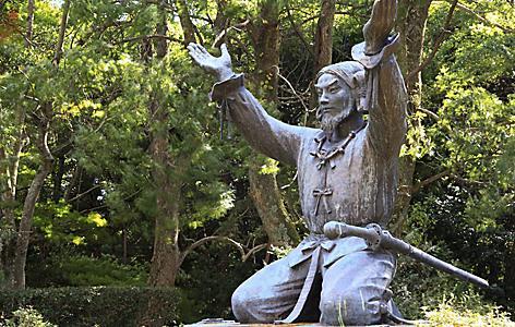 Statue of Okuninushi in Izumo Taisha grand shrine in Sakaiminato, Japan