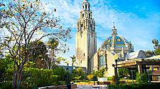 Balboa Park bell tower in San Diego, California