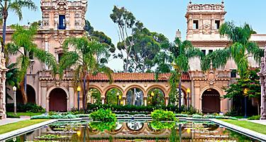 Balboa Park's Casa de Balboa Building in San Diego, California