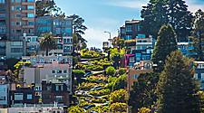 Famous Lombard Street in San Francisco, California