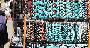 Turquoise jewelry in Union Square, San Francisco, California