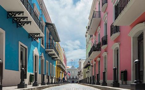 Puerto Rico San Juan Colorful Historic Homes