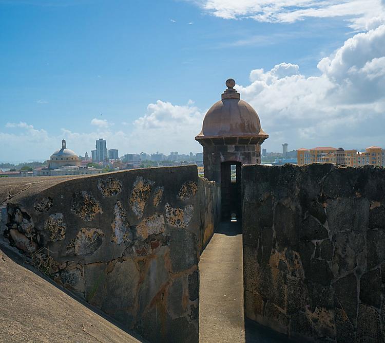Puerto Rico San Juan El Morro Historic Fort Close Up