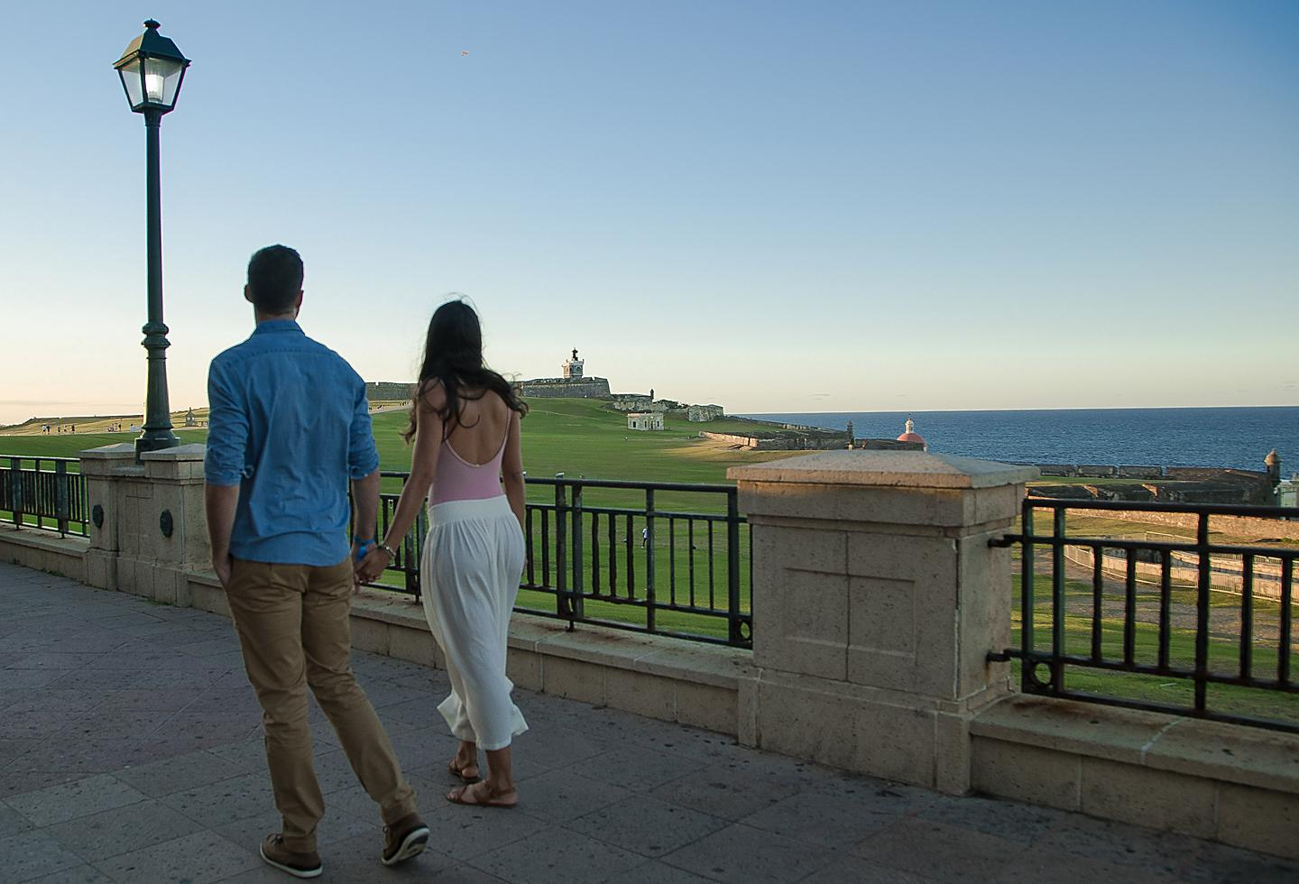 Couple Enjoying the View of the Forts on a Stroll