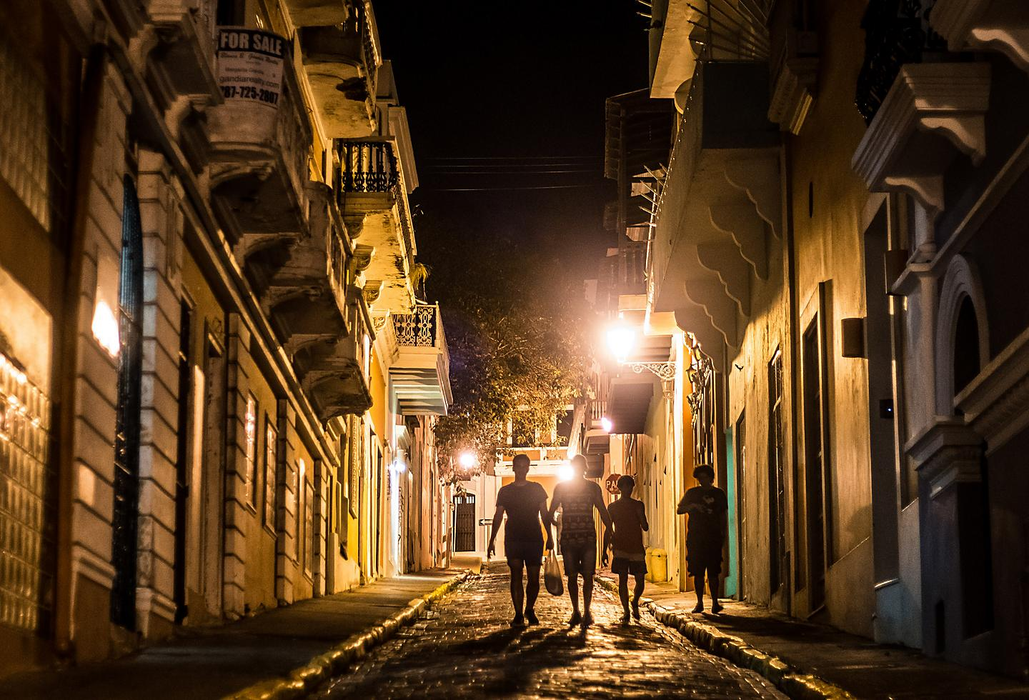 Puerto Rico San Juan Night Time Stroll