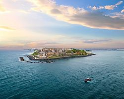View of the 16th century citadel, El Morro, from the ocean