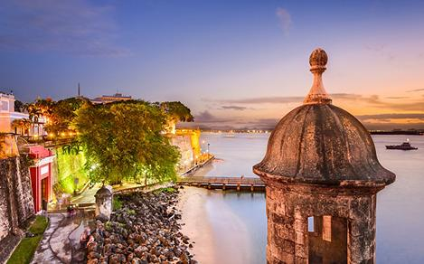Sunset View from Atop El Morro Fortress in San Juan, Puerto Rico