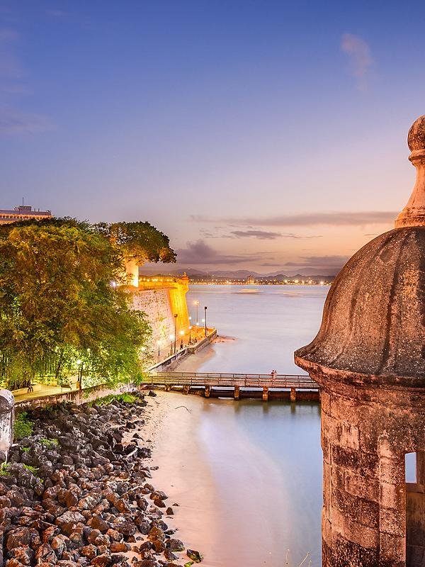 San Juan, Puerto Rico, El Morro night sunset
