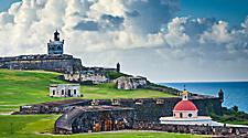 San Juan, Puerto Rico historic Fort San Felipe Del Morro.