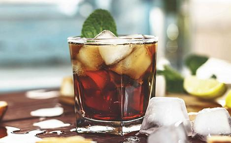 Drink of choice in Santiago, Cuba is a rum and coke