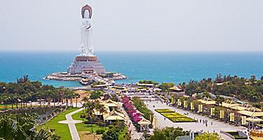 A statue of Quan Yin on the coast of Sanya, China